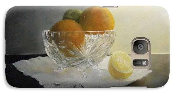 Galaxy Case featuring the painting Still Life In Crystal by Lori Ippolito