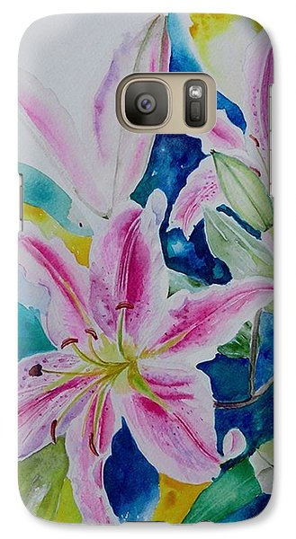Galaxy Case featuring the painting Still Life Lilies by Geeta Biswas