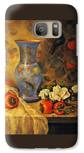 Galaxy Case featuring the painting Still Life Of Persimmons  by Donna Tucker