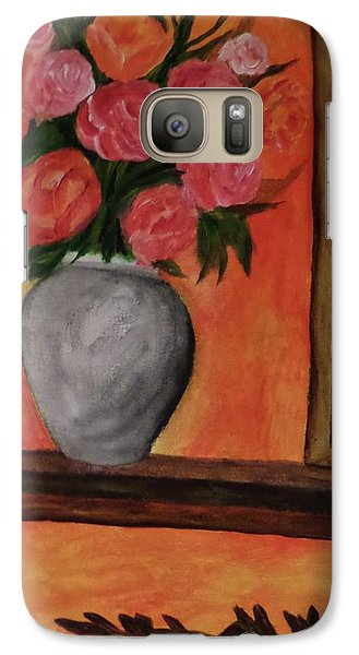 Galaxy Case featuring the painting Still Life On The Mantle by Christy Saunders Church
