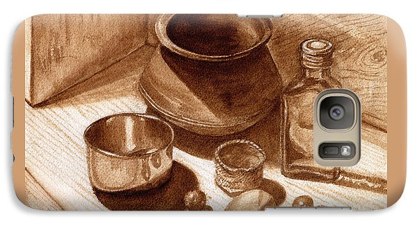 Galaxy Case featuring the painting Still Life Walnut Ink by Mukta Gupta
