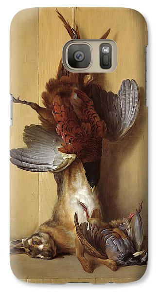 Still Life With A Hare, A Pheasant And A Red Partridge Galaxy S7 Case by Jean-Baptiste Oudry