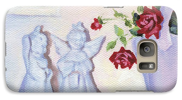 Galaxy Case featuring the painting Still Life With Angels by Natasha Denger