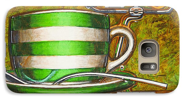 Galaxy Case featuring the painting Still Life With Green Stripes And Saddle  by Mark Howard Jones