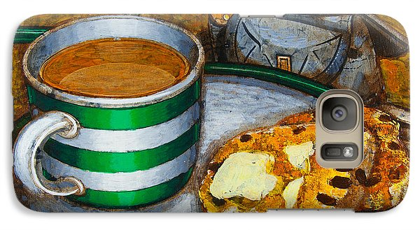 Galaxy Case featuring the painting Still Life With Green Touring Bike by Mark Howard Jones