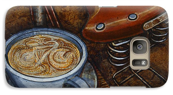 Galaxy Case featuring the painting Still Life With Ladies Bike by Mark Howard Jones