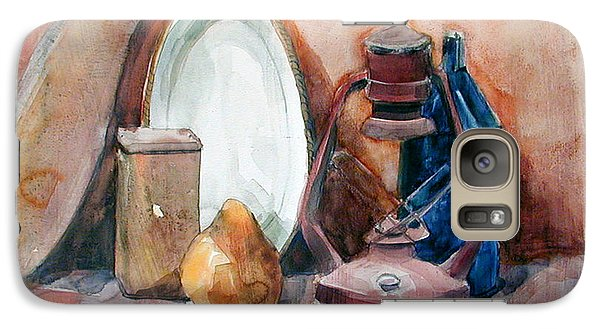 Galaxy Case featuring the painting Still Life With Miners Lamp by Greta Corens
