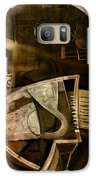 Galaxy Case featuring the digital art Still Life With Piano And Bust by Kim Gauge