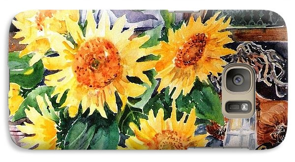 Galaxy Case featuring the painting Still Life With Sunflowers  by Trudi Doyle
