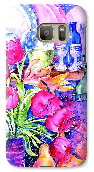 Galaxy Case featuring the painting Still Life With Tulips  by Trudi Doyle