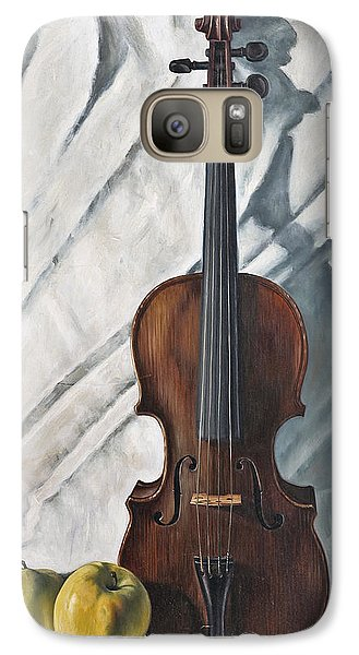 Violin Galaxy S7 Case - Still Life With Violin by John Lautermilch