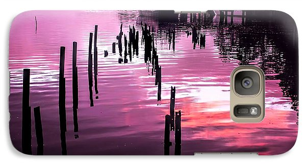 Galaxy Case featuring the photograph Still Water Dusk 2 by Wallaroo Images