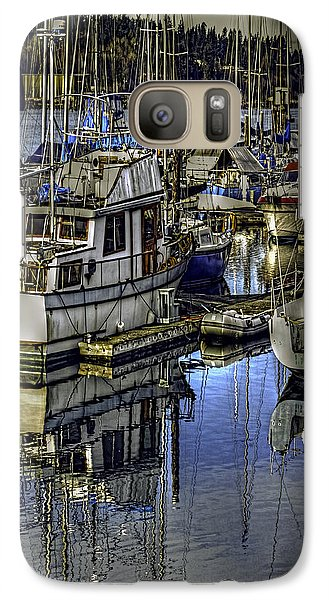 Galaxy Case featuring the photograph Still Water Masts by Jean OKeeffe Macro Abundance Art