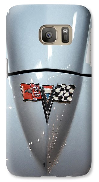 Vintage Car Galaxy Case featuring the photograph '63 Sting Ray by Aaron Berg
