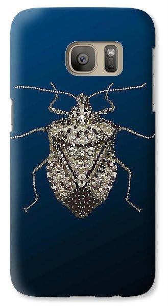 Galaxy Case featuring the digital art Stink Bug I Phone Case by R  Allen Swezey