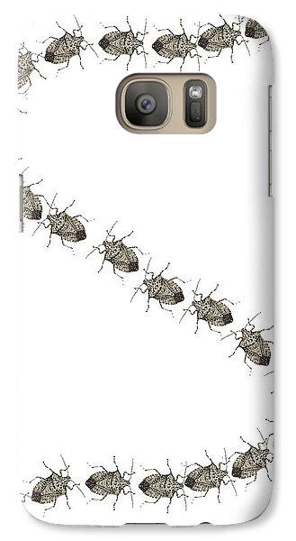 Galaxy Case featuring the digital art Stink Bugs I Phone Case by R  Allen Swezey