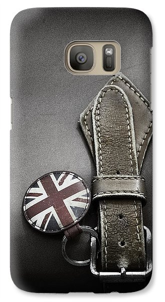 Galaxy Case featuring the photograph .stitched Up by Russell Styles