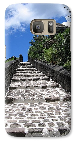 Galaxy Case featuring the photograph St.kitts - Ascent by HEVi FineArt