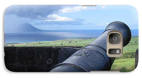 Galaxy Case featuring the photograph St.kitts Nevis - On Guard by HEVi FineArt