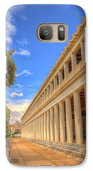 Galaxy Case featuring the photograph Stoa Of Attalos by Micah Goff
