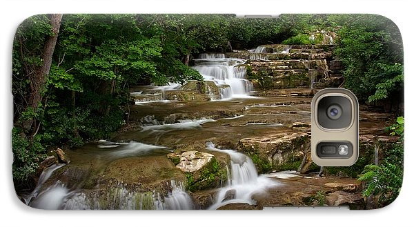 Galaxy Case featuring the photograph Stockbridge Falls by Dave Files