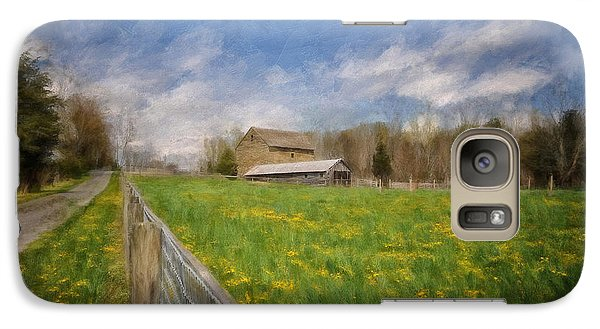 Galaxy Case featuring the photograph Stone Barn On A Spring Morning by Lois Bryan