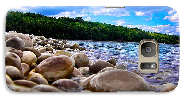 Galaxy Case featuring the photograph Stone Beach by Zafer Gurel