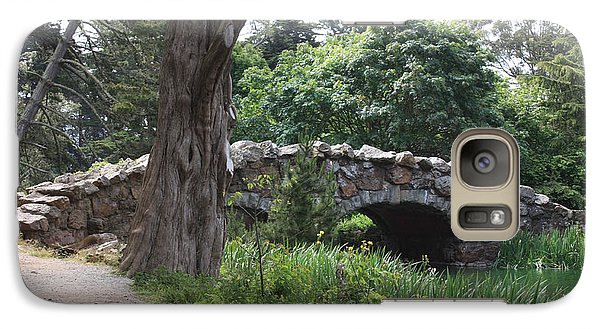 Galaxy Case featuring the photograph Stone Bridge At Stow Lake by Susan Alvaro