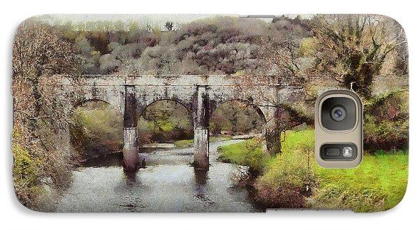 Galaxy Case featuring the digital art Stone Bridge by Kai Saarto