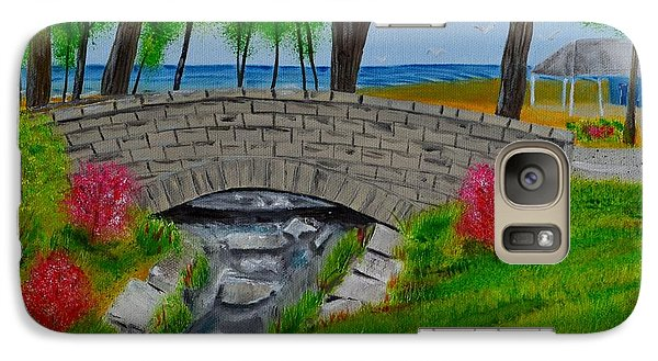 Galaxy Case featuring the painting Stone Bridge by Melvin Turner