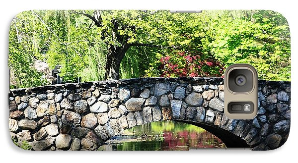 Galaxy Case featuring the photograph Stone Bridge Reflection by Judy Palkimas