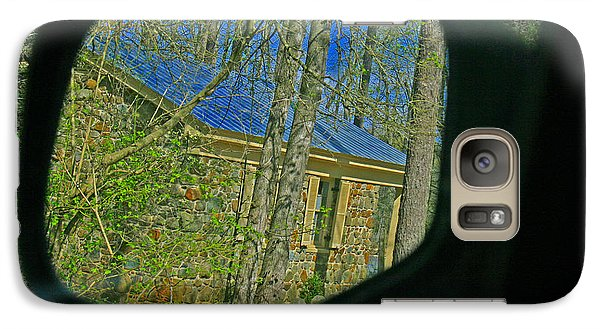 Galaxy Case featuring the photograph Stone Cabin Reflection by Andy Lawless