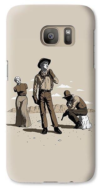 Galaxy Case featuring the digital art Stone-cold Western by Ben Hartnett