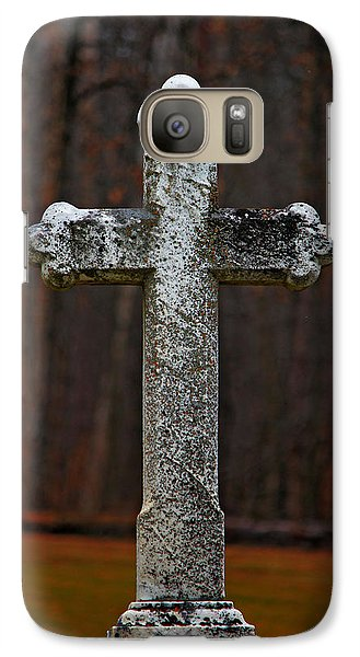 Galaxy Case featuring the photograph Stone Cross by Rowana Ray