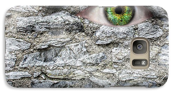 Stone Face Galaxy S7 Case by Semmick Photo