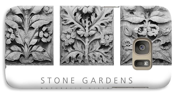 Galaxy Case featuring the digital art Stone Gardens 1 Naturally Distressed Poster by David Davies