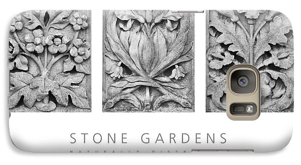 Galaxy Case featuring the digital art Stone Gardens 2 Naturally Distressed Poster by David Davies