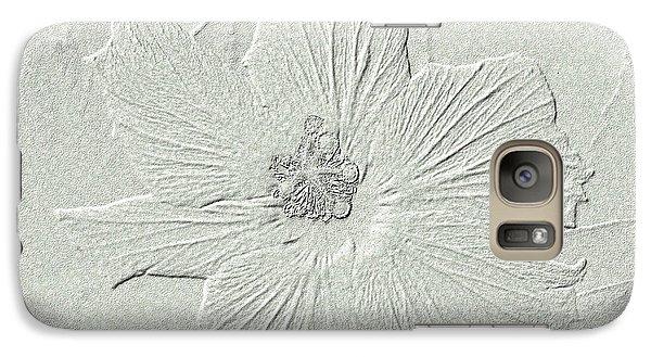 Galaxy Case featuring the photograph Stone Hibiscus by Oksana Semenchenko