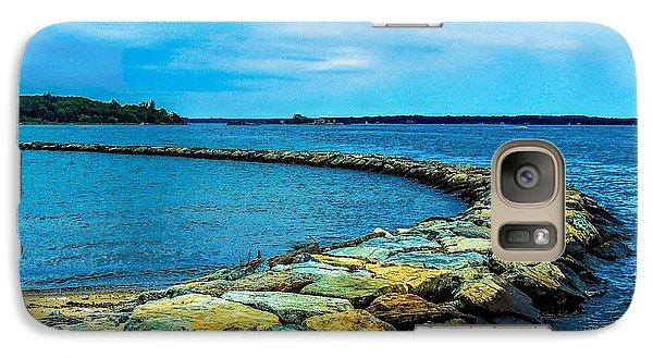Galaxy Case featuring the photograph Stone Jetty by Glenn Feron