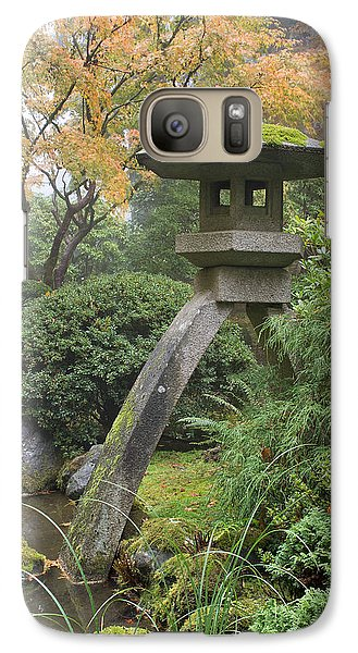 Galaxy Case featuring the photograph Stone Lantern In Japanese Garden by JPLDesigns