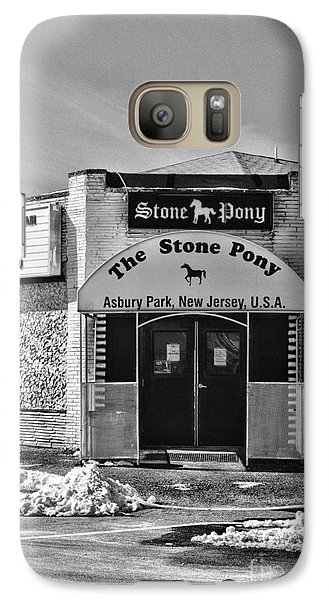 Stone Pony In Black And White Galaxy Case by Paul Ward