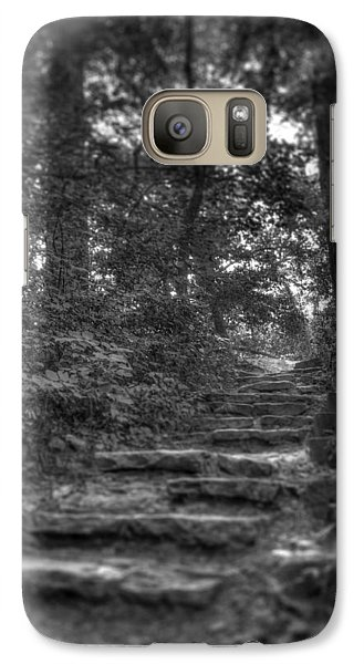 Galaxy Case featuring the photograph Stone Steps by Ed Cilley