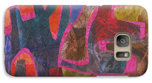 Galaxy Case featuring the mixed media Stone Tree Sunrise by Catherine Redmayne