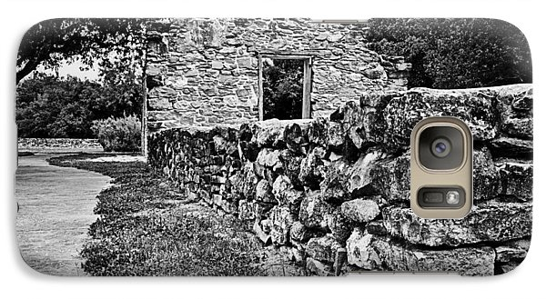 Galaxy Case featuring the photograph Stone Wall At Mission Espada by Andy Crawford