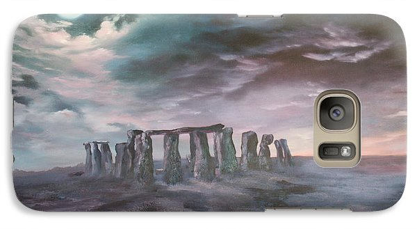 Galaxy Case featuring the painting Stonehenge In Wiltshire by Jean Walker