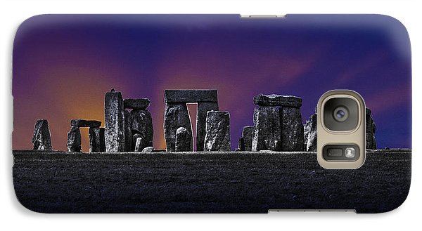 Galaxy Case featuring the photograph Stonehenge Looking Moody by Terri Waters