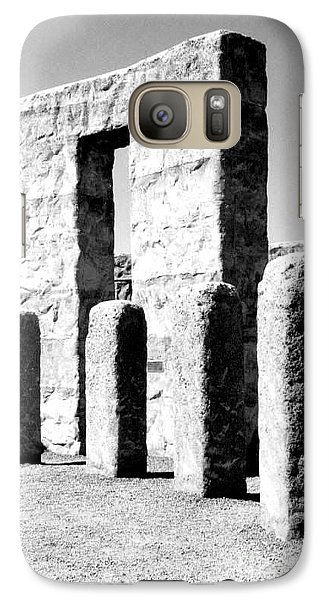 Galaxy Case featuring the photograph Stonehenge Replica by Chalet Roome-Rigdon