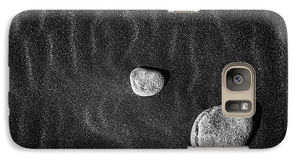 Galaxy Case featuring the photograph Stones In The Sand by Gunnar Orn Arnason
