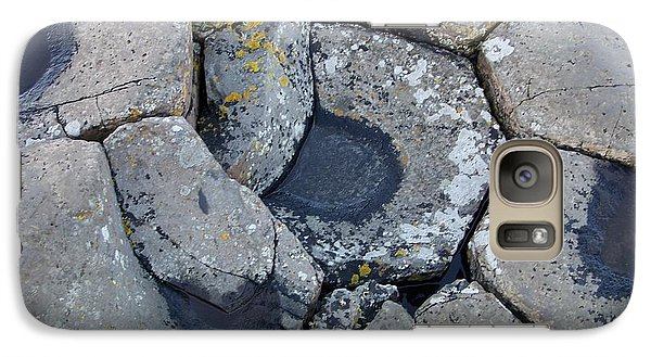 Galaxy Case featuring the photograph Stones On Giant's Causeway by Marilyn Zalatan