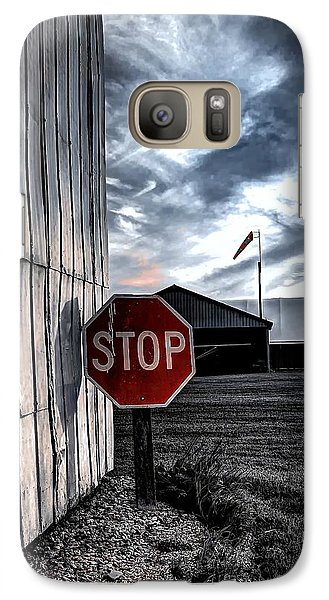 Galaxy Case featuring the photograph Stop by Michaela Preston